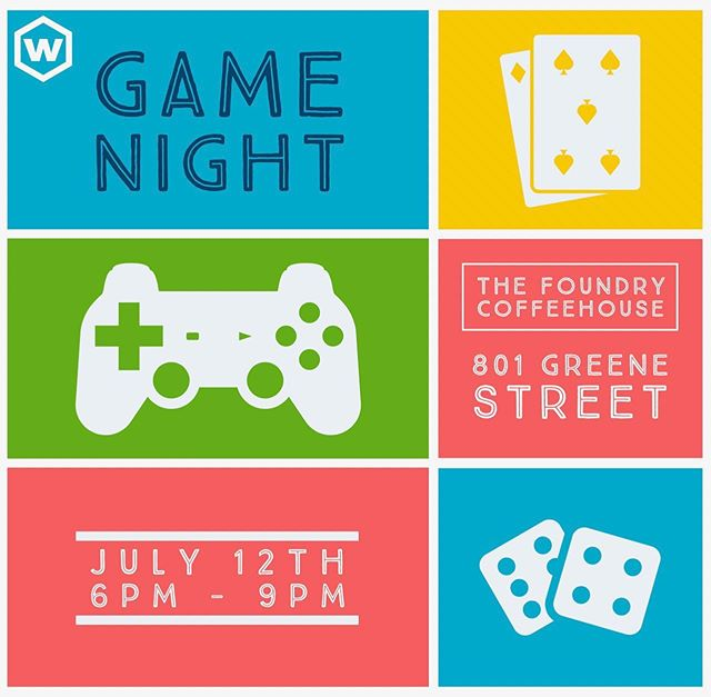 Students, don't forget Friday is Game night!