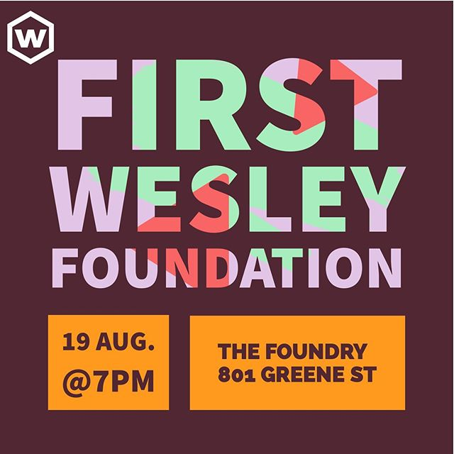 Don't forget! Next Monday is First Wesley! We will have pizza and coffee!