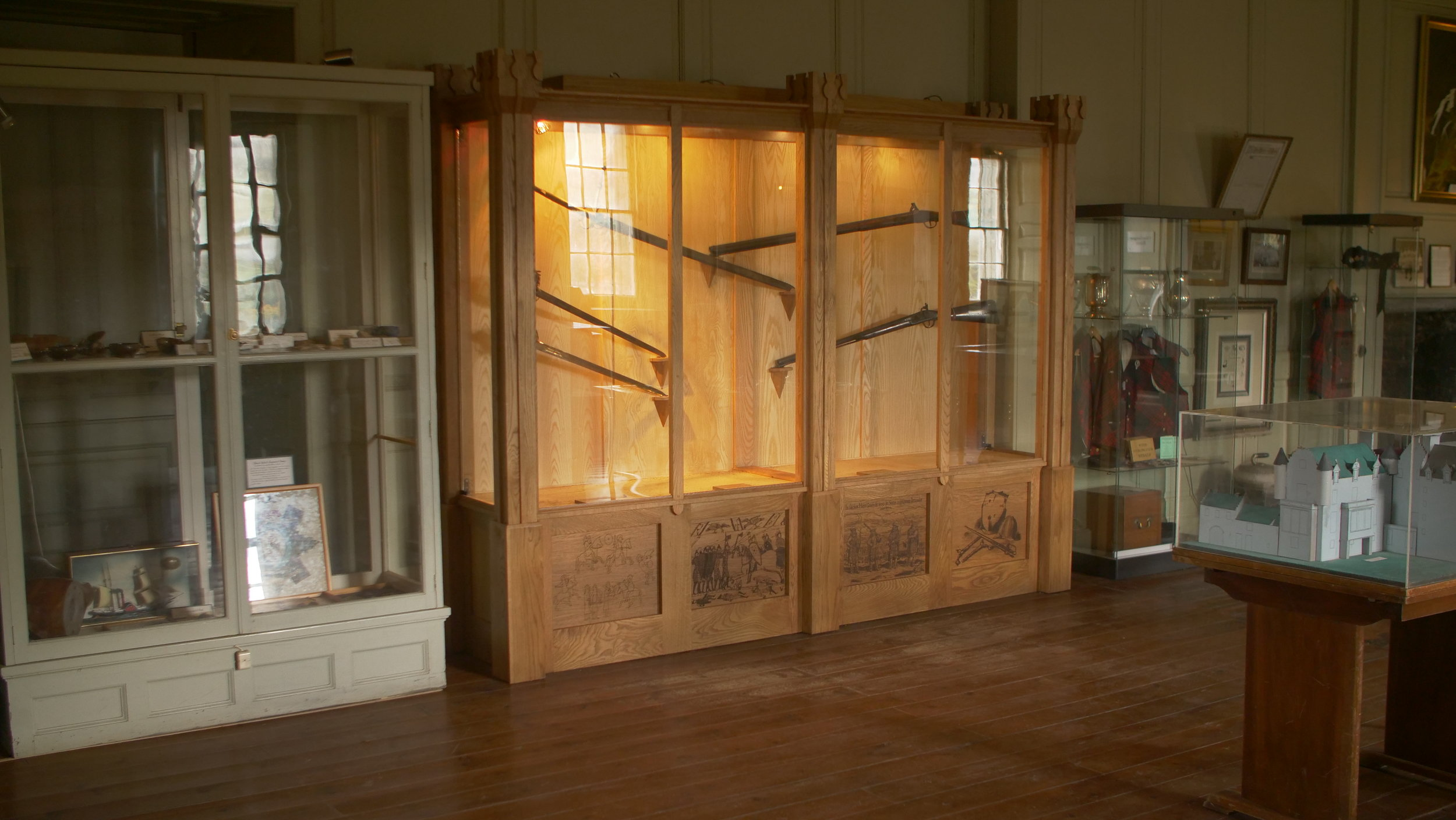 Scottish Baronial Display Cabinet designed by Eoghann Menzies