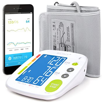 picture of the Balance Bluetooth blood pressure meter