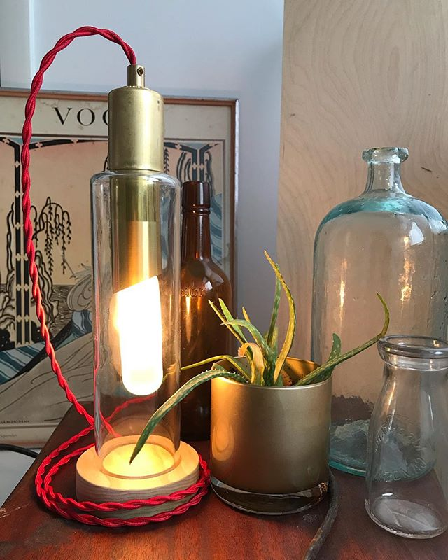 old stuff ', new light  #light #lighting #glass #brass #bulb #lamp #design #antique #vintage