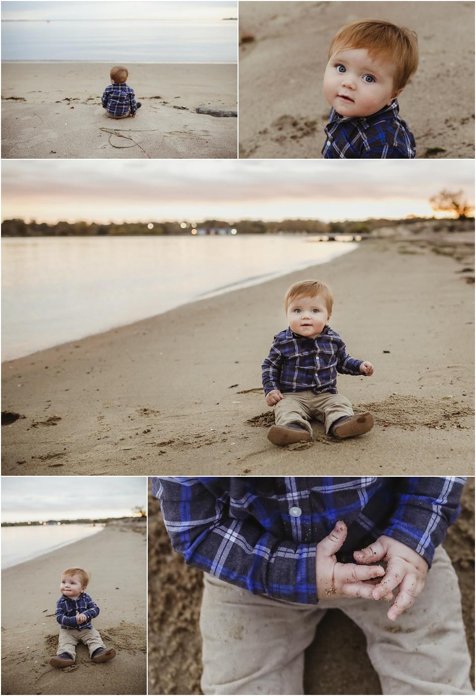 Baby beach photos Fairfield County CT
