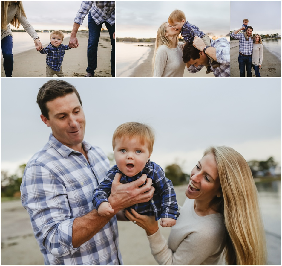 Rowayton Family beach portraits