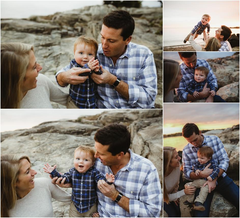 Weed beach Darien CT family beach portraits