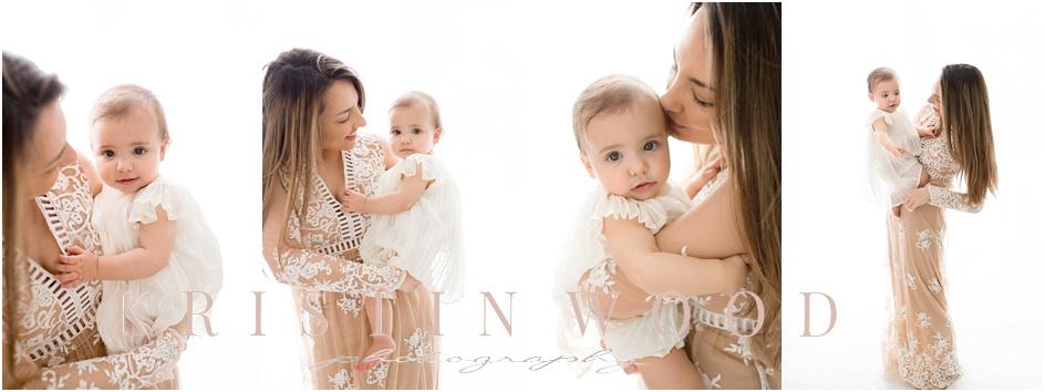 Mom and Baby Studio Portraits Darien Connecticut Baby Photographer