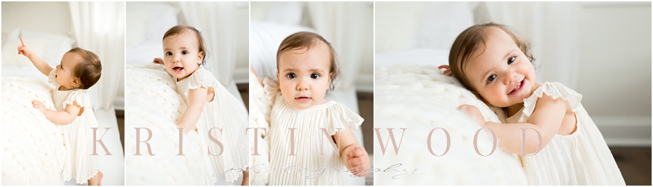 Baby girl in home portraits Greenwich CT photographer