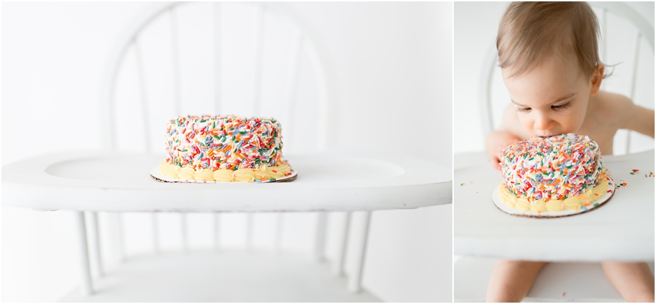 First Birthday Cake Smash Session Fairfield County Darien New Canaan Photographer
