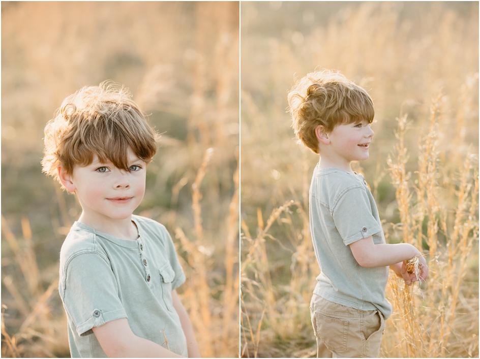 Child portraits sunny fiend New Canaan Fairfield County Photographer