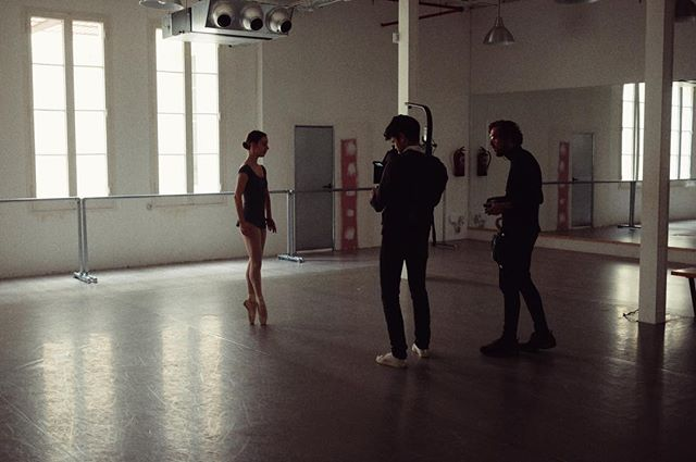 On location in Barcelona shooting with Victoria. #barcelona #ballet #arri #alexa #fujifilmxt10 #thebasefilm