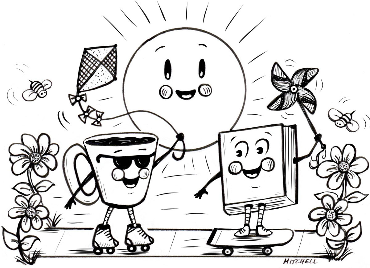 Skate into spring with Coffee & a Good Book!