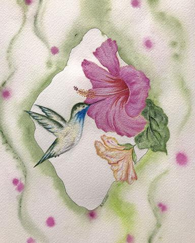 Hummingbird and Hibiscus 8x10 print.jpg