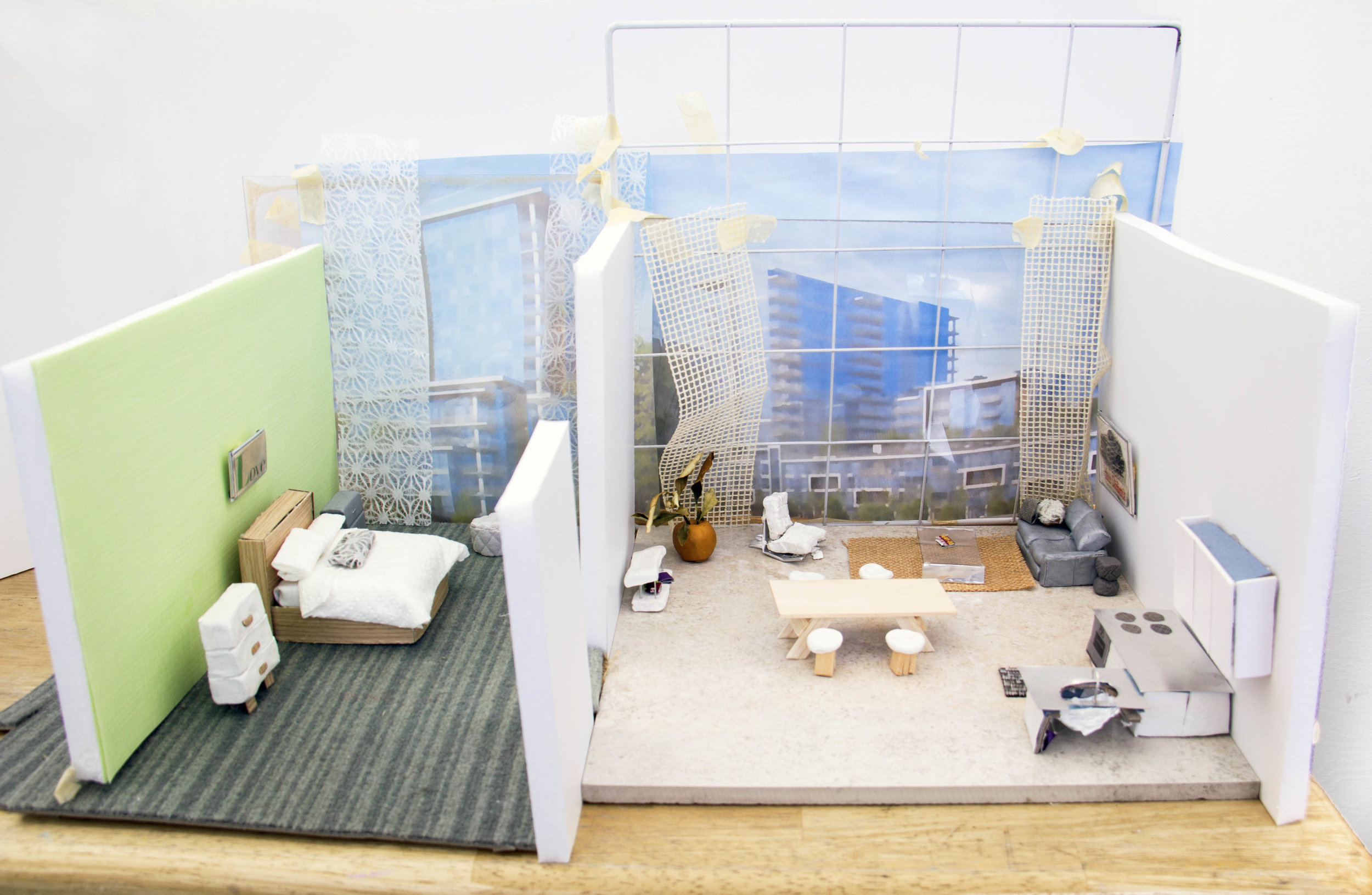 The Ultimate Private Room of Luxury      / Nature Is Your Neighbor Proximity Is Your Reward    Miniature model, 2017