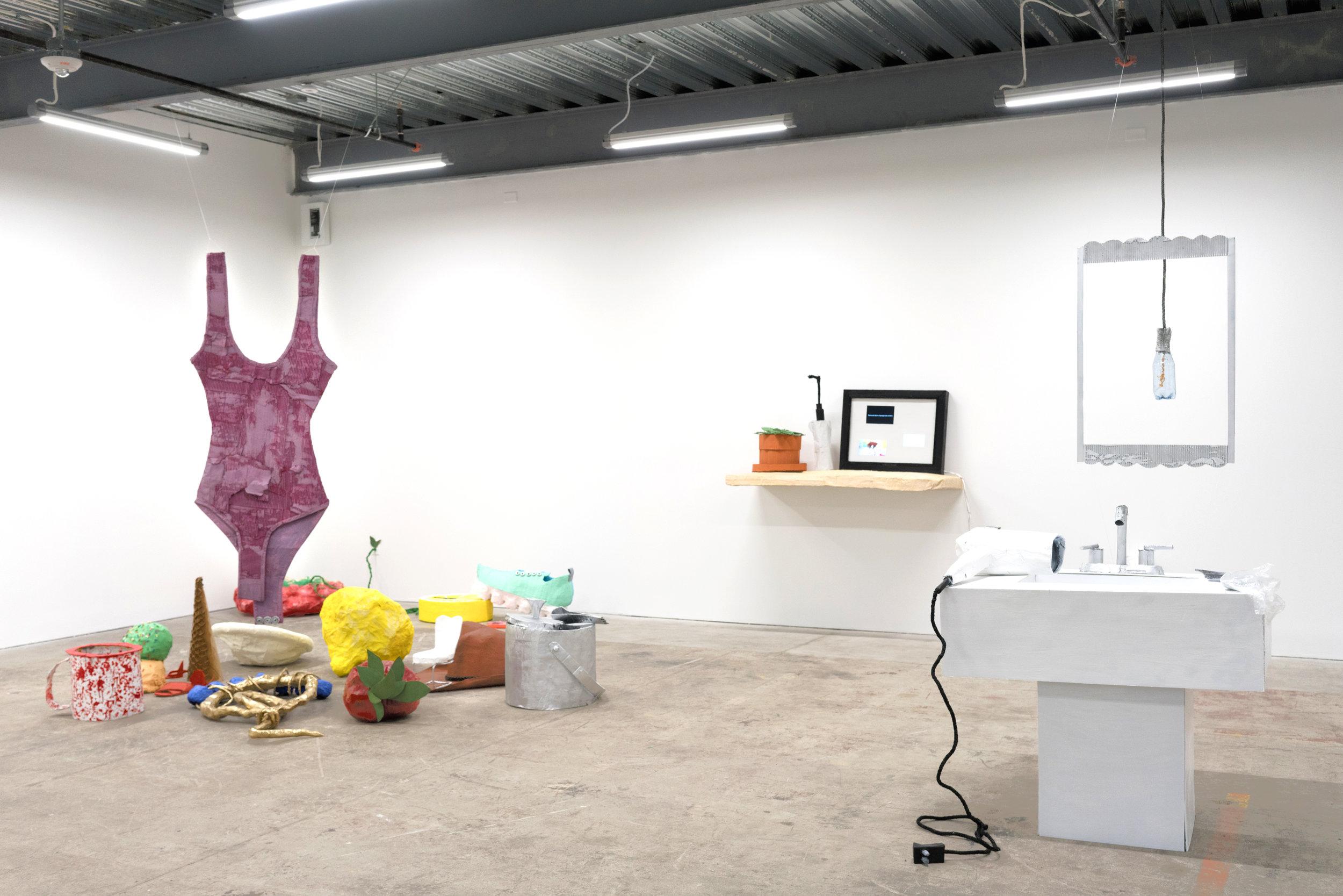 Personal Optimization  , intermedia installation: sculpture and video, 2018 at Minnesota Street Project. San Francisco, CA.