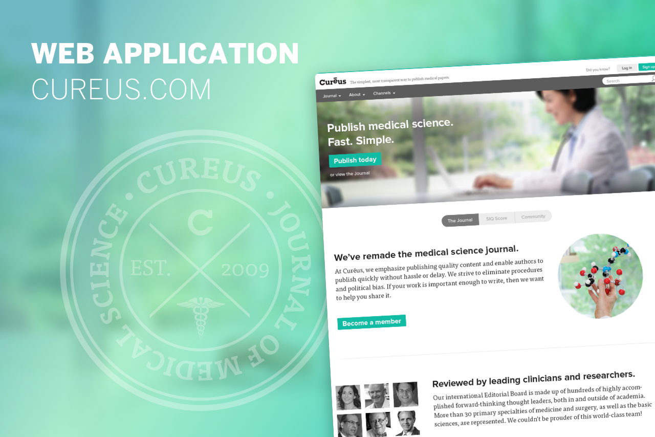 Democratizing medical science - Cureus.com is a self-service publishing platform for doctors and researchers to publish medical science. Designed and launched the initial SaaS platform and multiple versions from 2013-2017. →