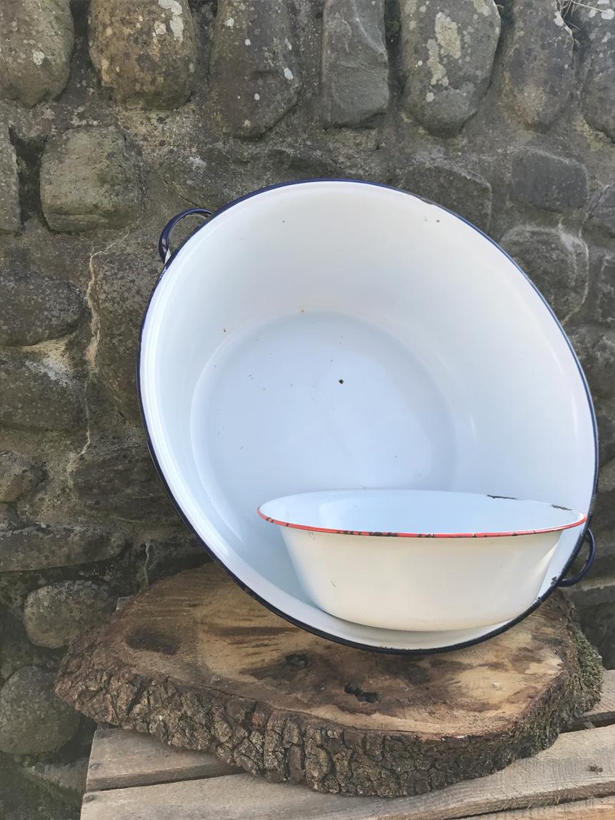 Enamel bowls £3.00