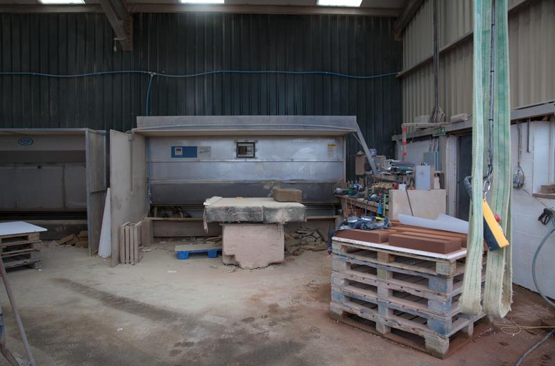 Stone Mason's work shop