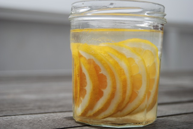 Citrus water resets pH in stomach and aides in digestion.