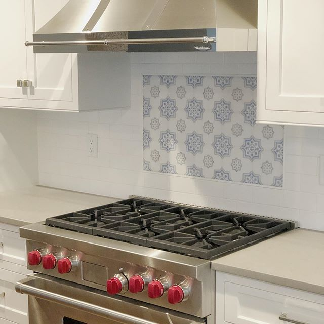 Couldn't be happier with the way this kitchen turned out. The custom color @stoneimpressions tile tied it all together! #kitchen #backsplash #interiordesign #kitchenisland #kitchendesign #kitchenremodel #kitchendecor #customtile