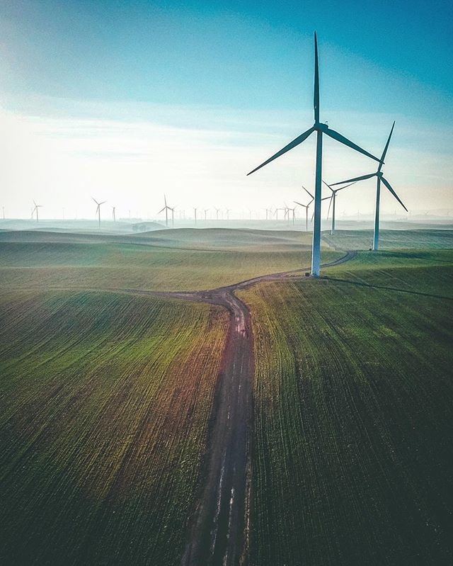 Collaboration Thursday! . . Photo 📸 @kennymccann.jr  Edit by @visualeyesaerial . . MEET KENNY! Kenny is a California native with a passion for photography and video. . . Kenny shot this photo while on his way back from work on highway 12 near TRAVIS Air Force Base in northern California. The windmills and green hills looked amazing underneath the afternoon sun and couldn't resist capturing the moment. . . Excellent capture Kenny! Thanks for sharing and collaborating!