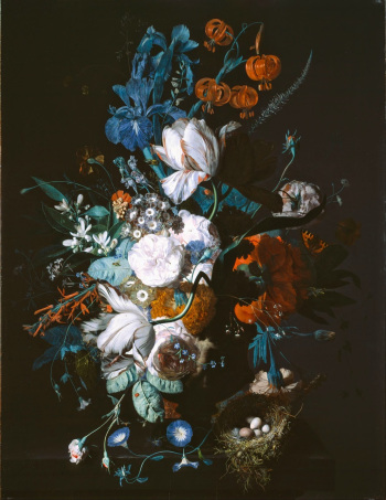 Jan van Huysym, Vase with Flowers.  Notice the nodding  Lilium martagon .