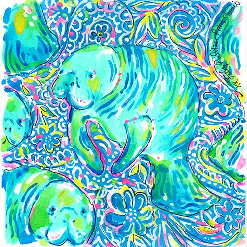 Lilly 5x5 - Manatees