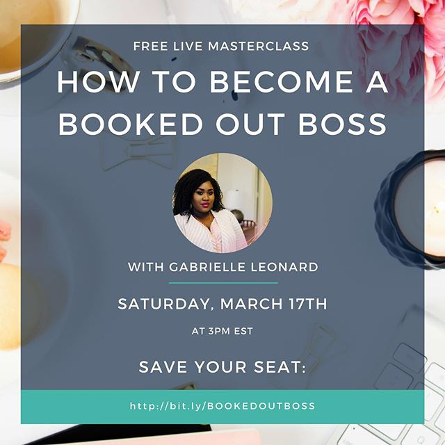 What's up boss babes!!! I am so excited to bring this class to you on Saturday! Since the reinvention of my brand after the two category 5 hurricanes hit here in the Virgin Islands in September I have been working with some amazing clients and have been fortunate enough to not only be booked out but to help my clients be booked out as well!!! In this FREE masterclass, I'll share my 7 Step Strategy that helped me become a booked out boss (info that I wish someone had told me when I first launched my business 3 years ago) and 5 things that you're probably doing that's costing you CLIENT BOOKINGS A.K.A Coins!!! If you're ready to become a booked out boss, click the link in my bio to sign up! It's going to be juicy😱 See you on Saturday 💕bit.ly/BOOKEDOUTBOSS