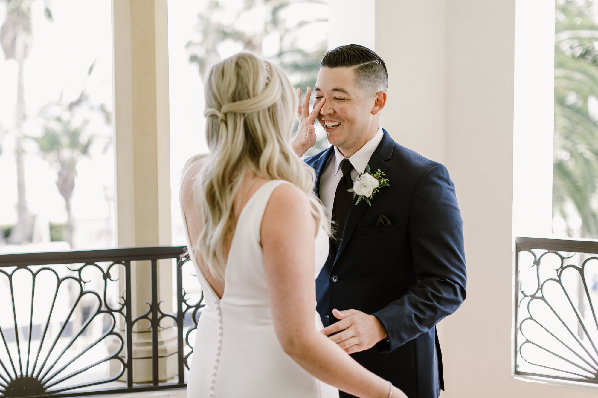 12_Ally and Tommy's Wedding-28_santa_first_look_crying_barbara_inn.jpg