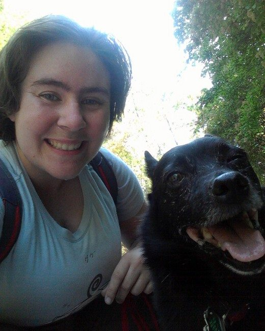 My first walk with Bear in 2015!