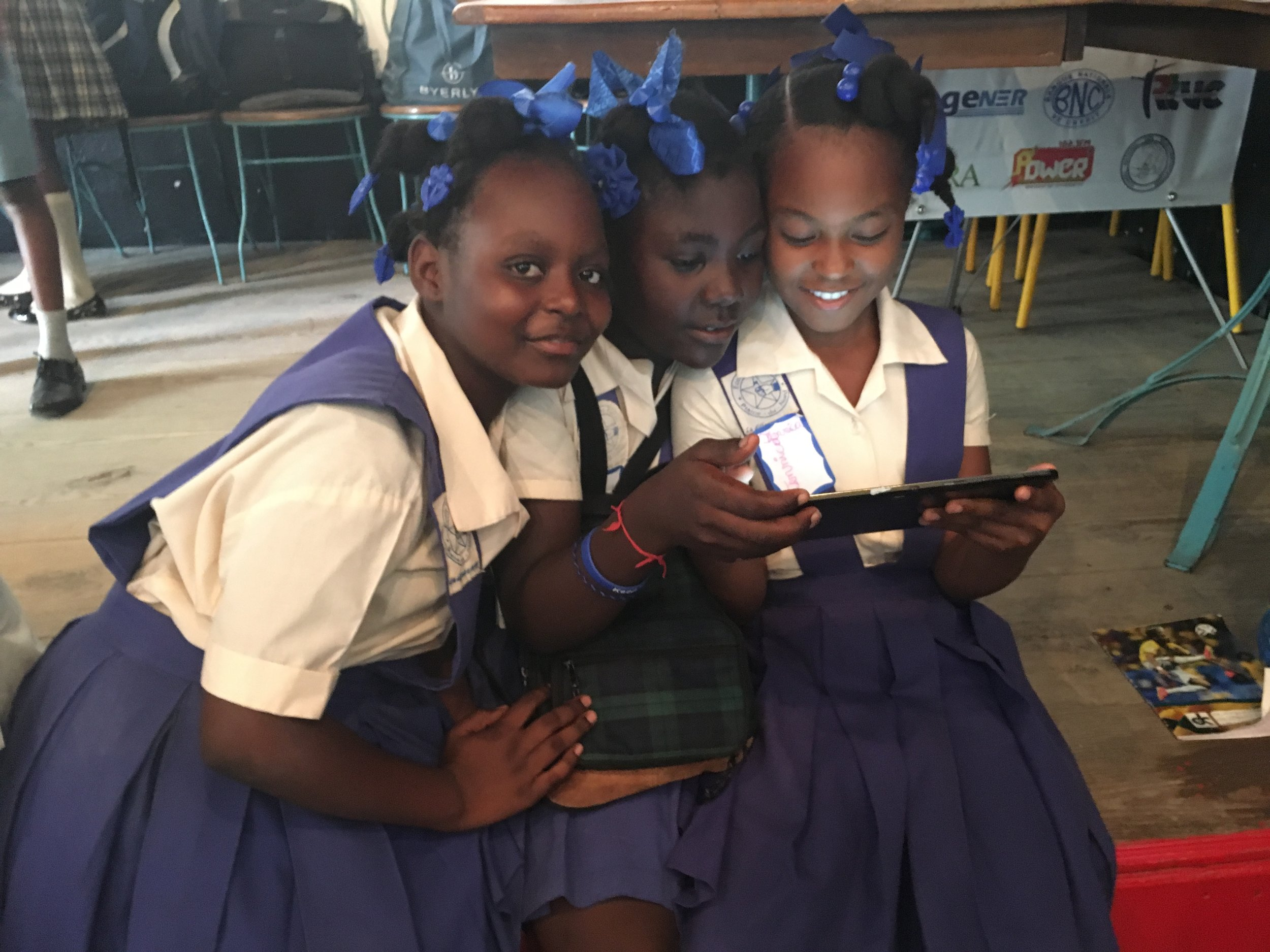 What happens with Haiti's children learn how to code, solve problems, collaborate, and think? A brighter future.