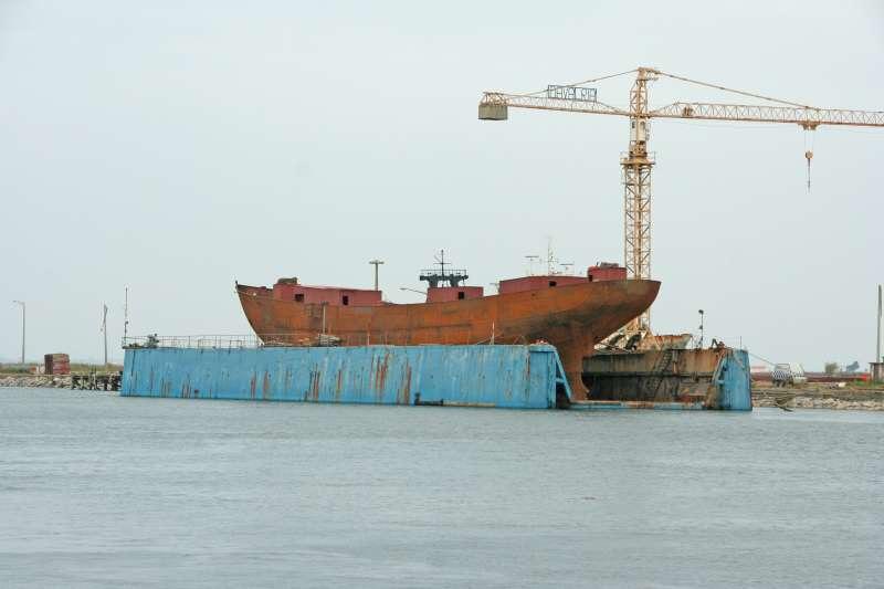 Santa Maria Manuela  in dry dock, 2008.