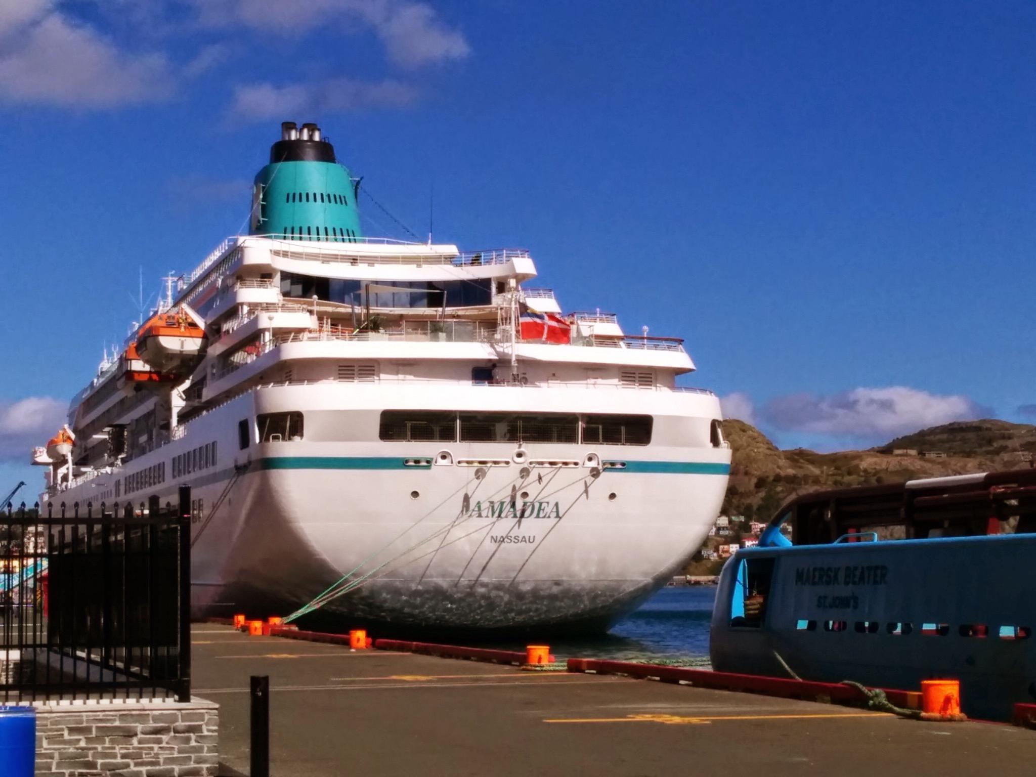 The  Amadea  moored in St. John's. Photo by Heather Elliott.