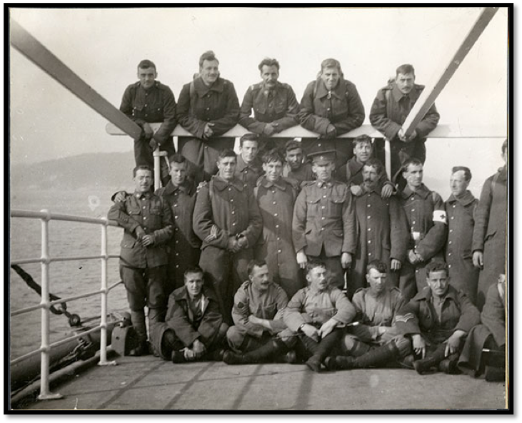 Non-Commissioned Officers on SS  Florizel . Image A 58-157 from The Rooms Provincial Archives.
