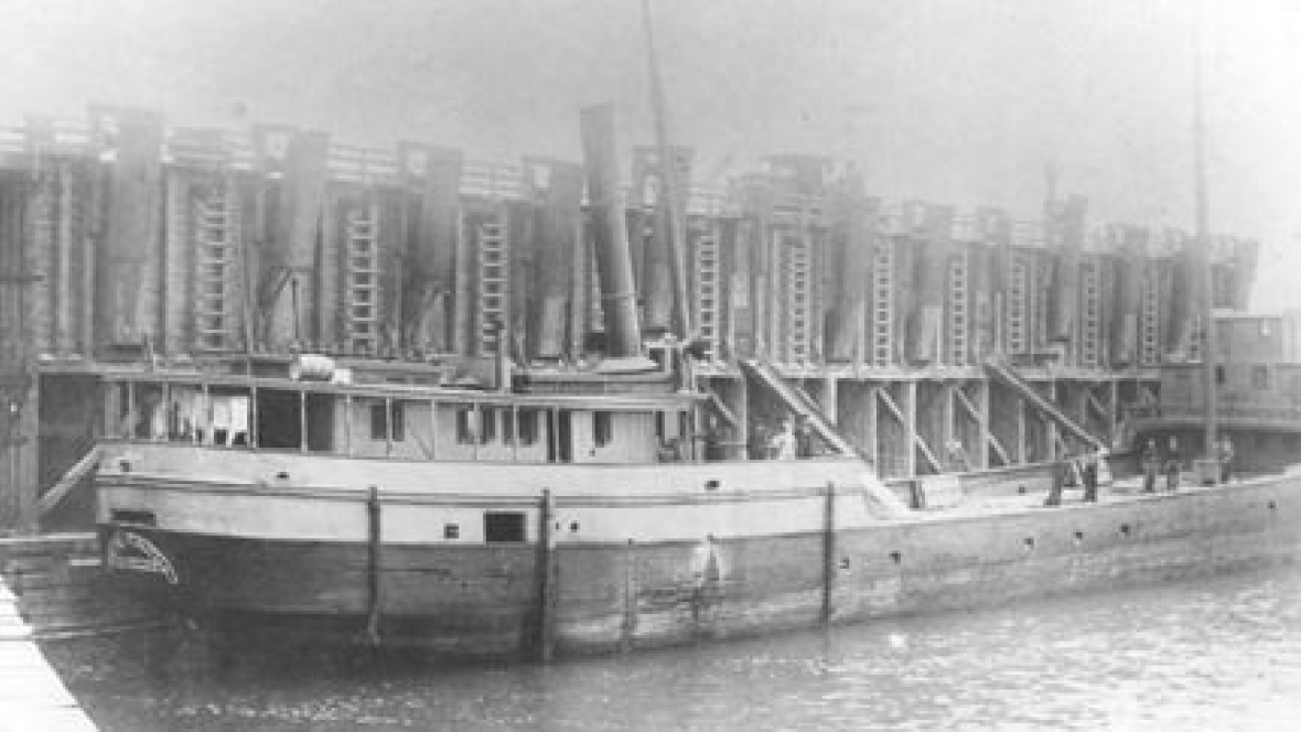 The  Margaret Olwill  at Kelley's Island, Ohio. Image from Bowling Green State University.