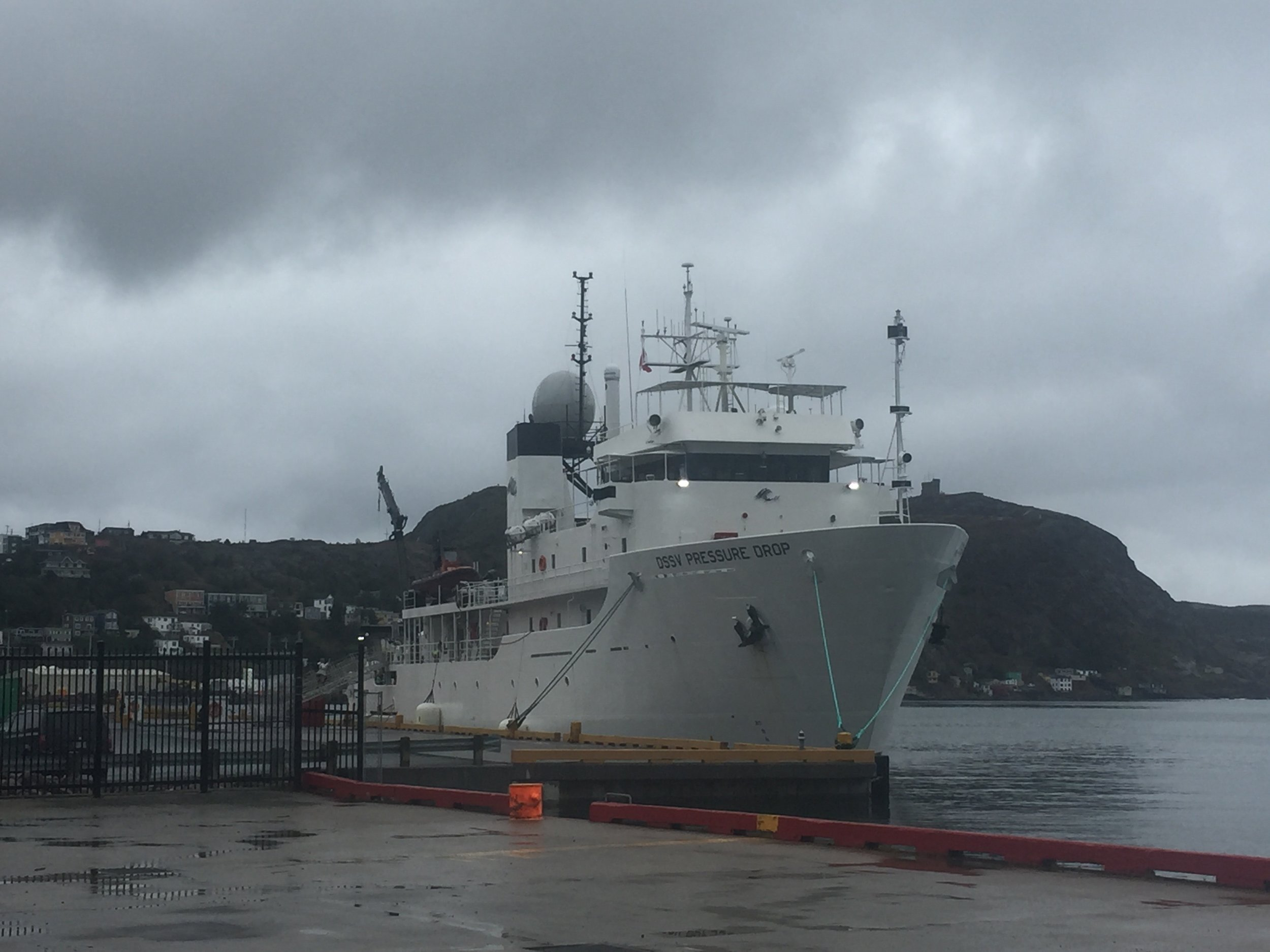 DSSV  Pressure Drop  in St. John's, September 2018