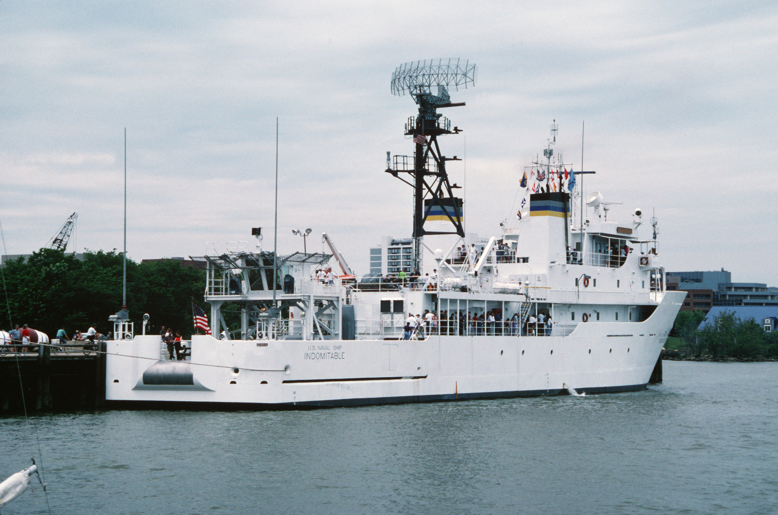 USNS  Indomitable , circa 1998. Photo from  Wikipedia .