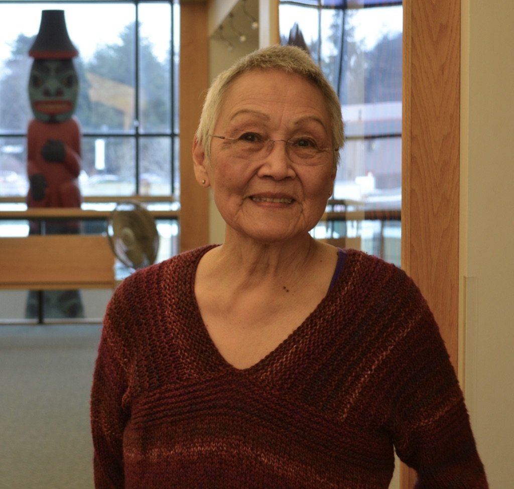 June Degnan at Central Council of Tlingit and Haida Indian Tribes Vocational Training and Resource Center, January 2018