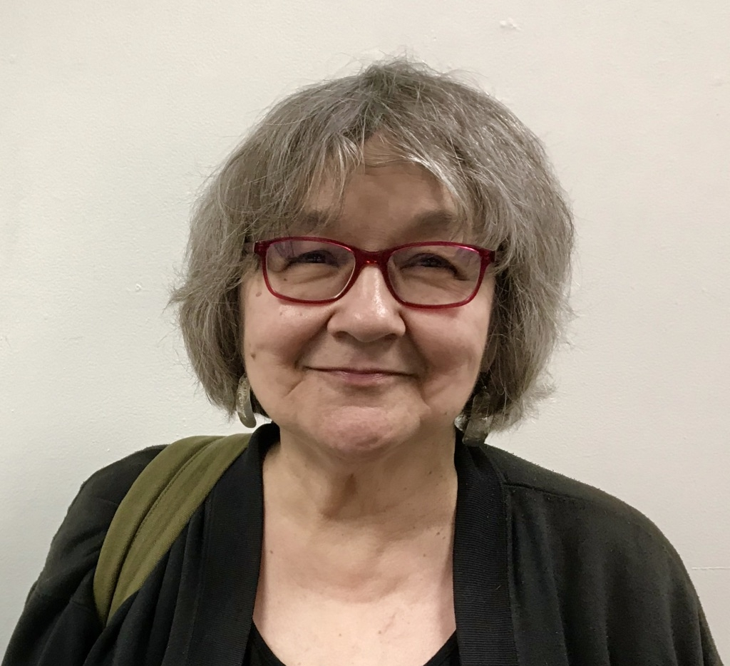 Ernestine Hayes at the Juneau Arts and Culture Center, March 2018.
