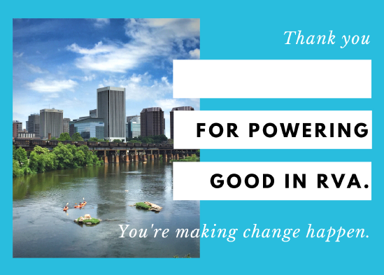 Download Your Postcard - Print on cardstock and fill in the name of your volunteer(s) who powers good