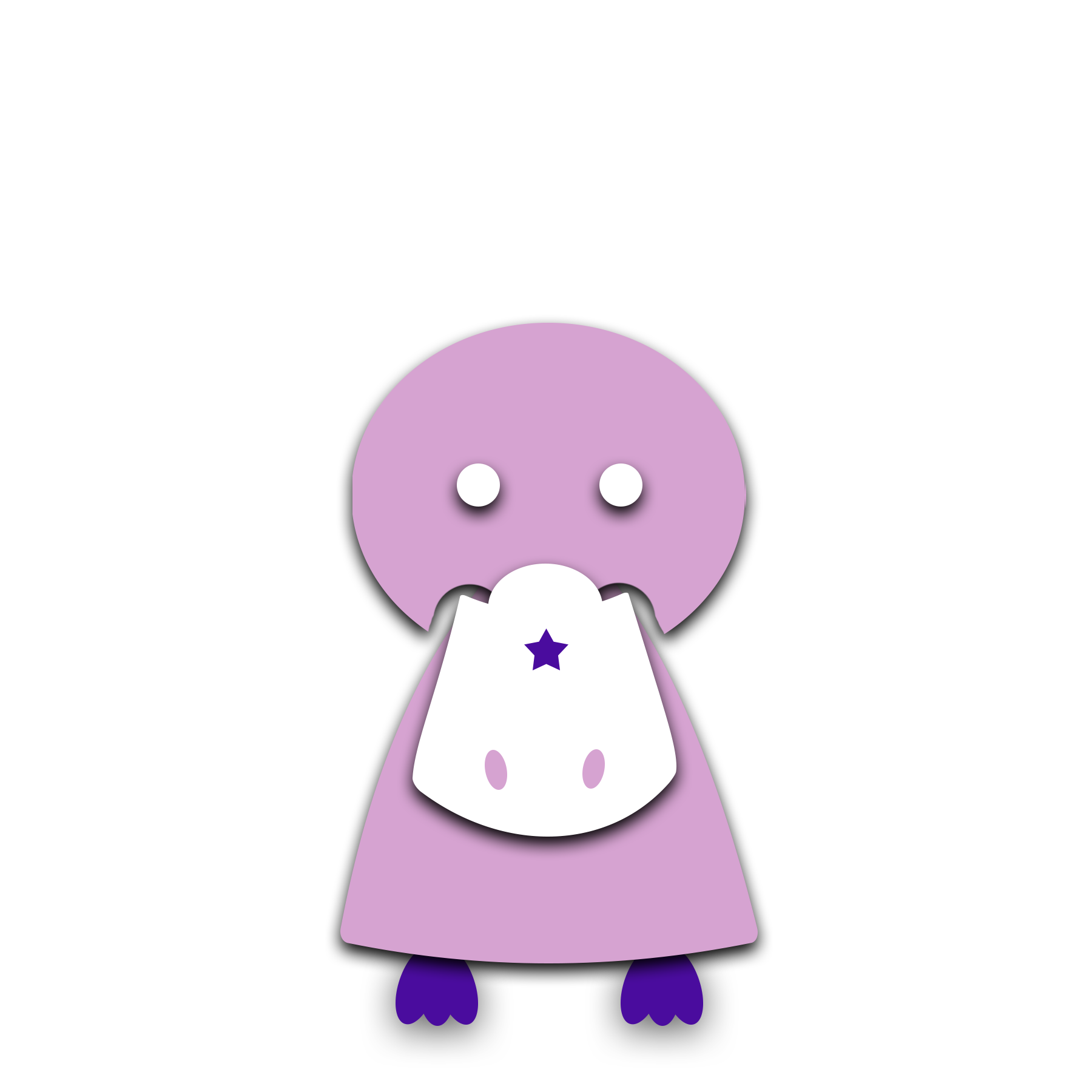[Image] A light purple, animated platypus with dark purple feet standing by itself. Madeline Stein offers individual counseling for gifted children and gifted teens in Denver, CO.