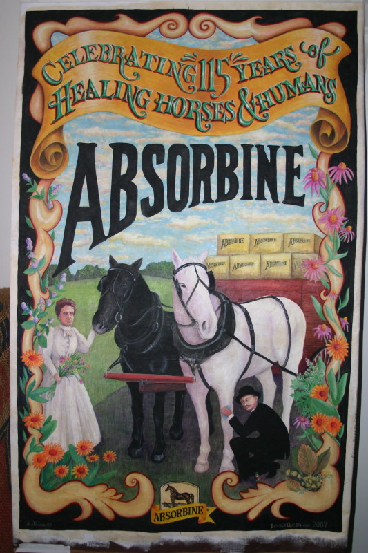 Absorbine Anniversary Poster