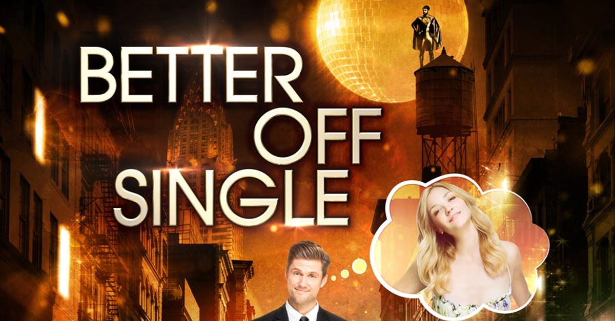 Better Off Single - Red Square PicturesThis full-length feature film follows one man's hallucination-fueled, post-breakup quest to find new love...and himself. When Charlie Carroll (Aaron Tveit) quits his job and his girlfriend (Abby Elliott) on the same day, it seems as though he's finally found freedom.