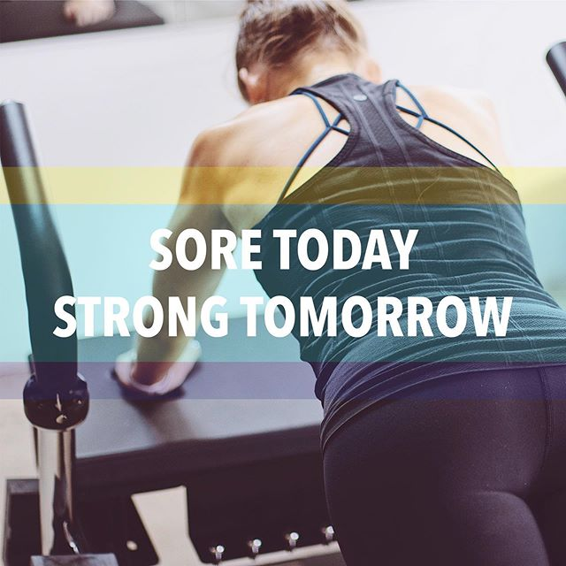 SORE today. STRONG tomorrow. [on mental repeat] 💪🏼 Be sure to check out our IG Stories today.. @melisgraham is taking over!
