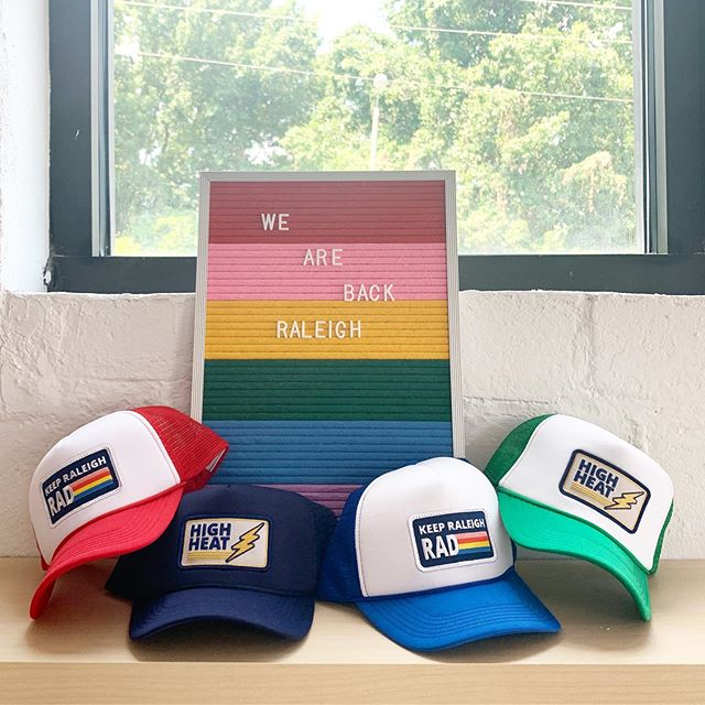 We're back and bringing the ⚡️high heat⚡️We have some amazing new merchandise in studio including these *exclusive* hats. What do you think Raleigh?