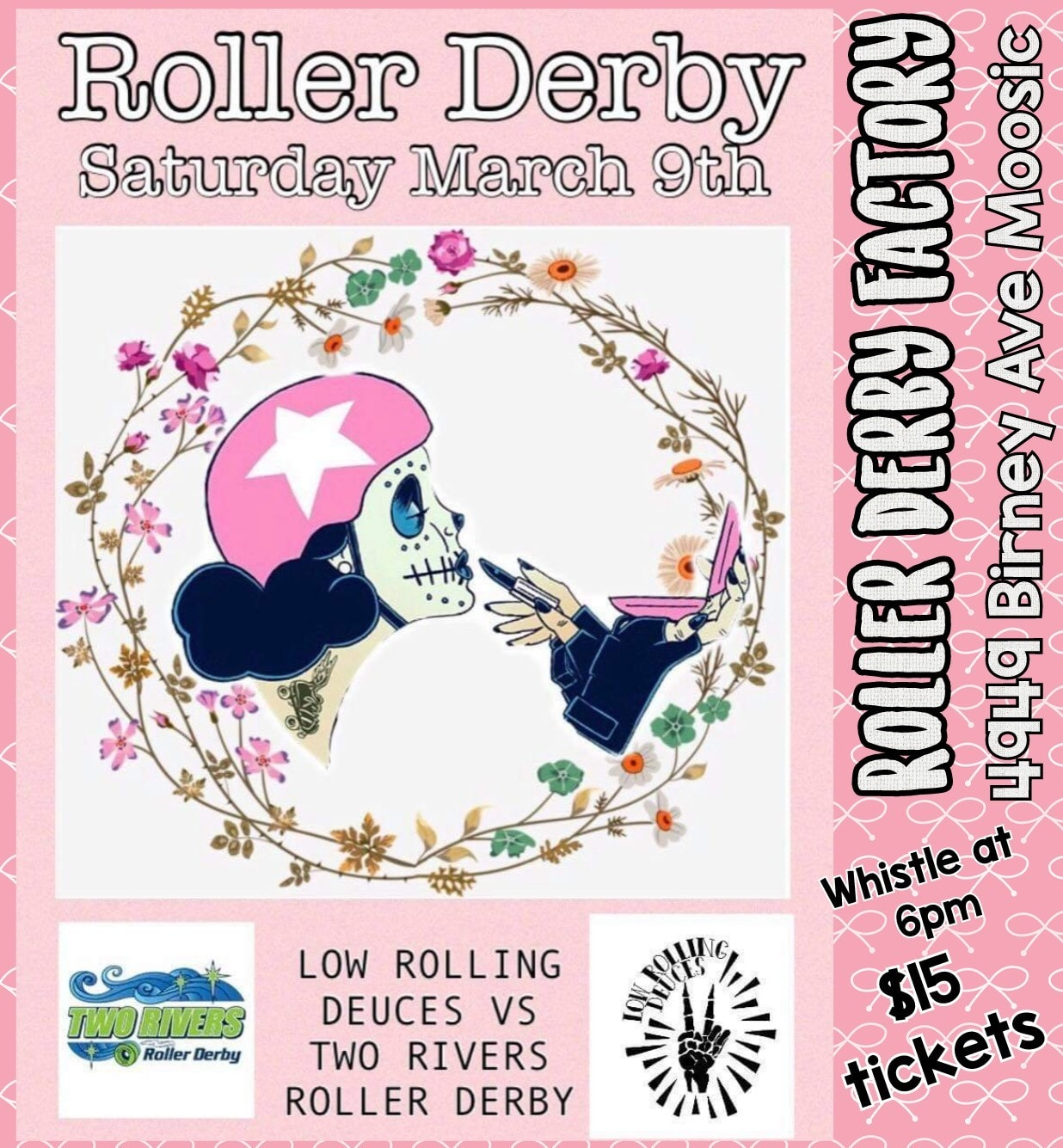 Low Rolling Deuces vs Two Rivers - 4949 Birney Ave Moosic, PAMarch 9th at 6pmTickets are $15