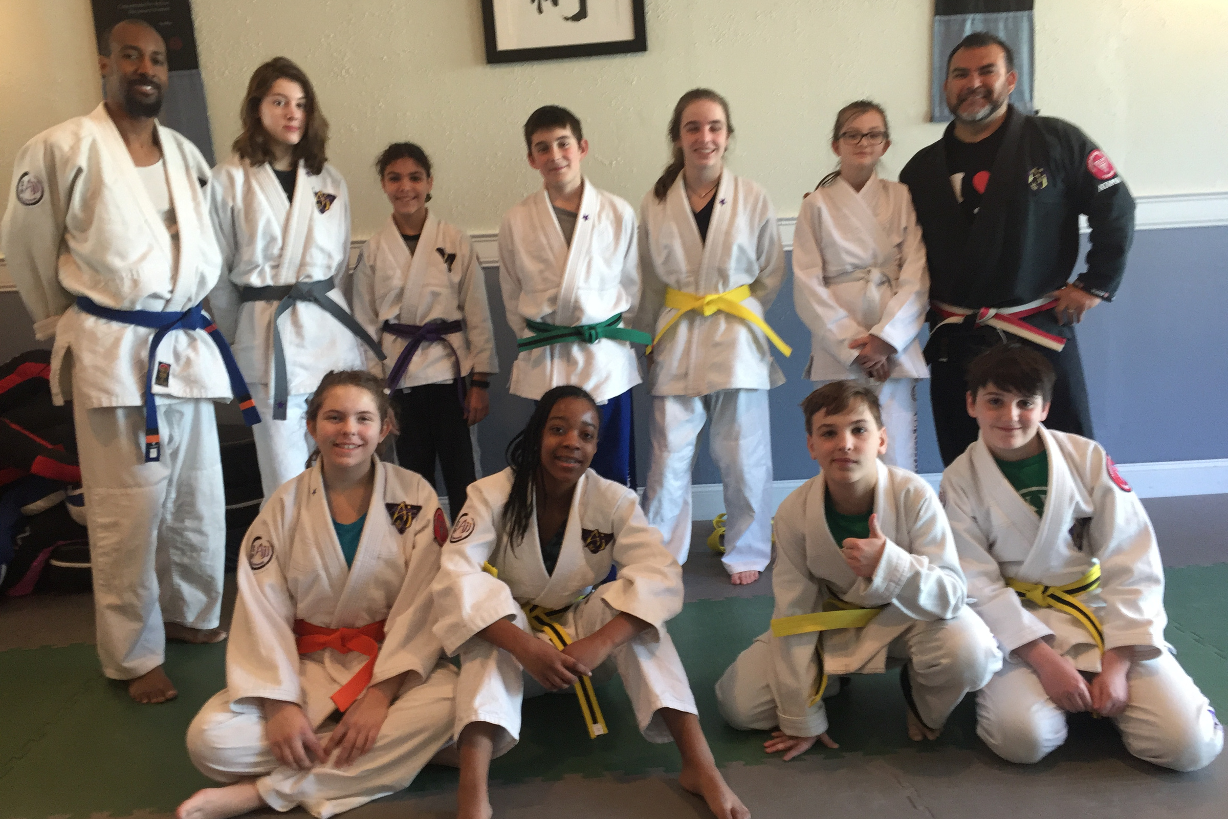 For Young Adults - American Jiu Jitsu gives our Young Adults the confidence they need to be themselves. We encourage our students to express themselves and to continually strive to be a better person.Training for Young Adults helps develop both leadership and team skills necessary for navigating Middle and High School.