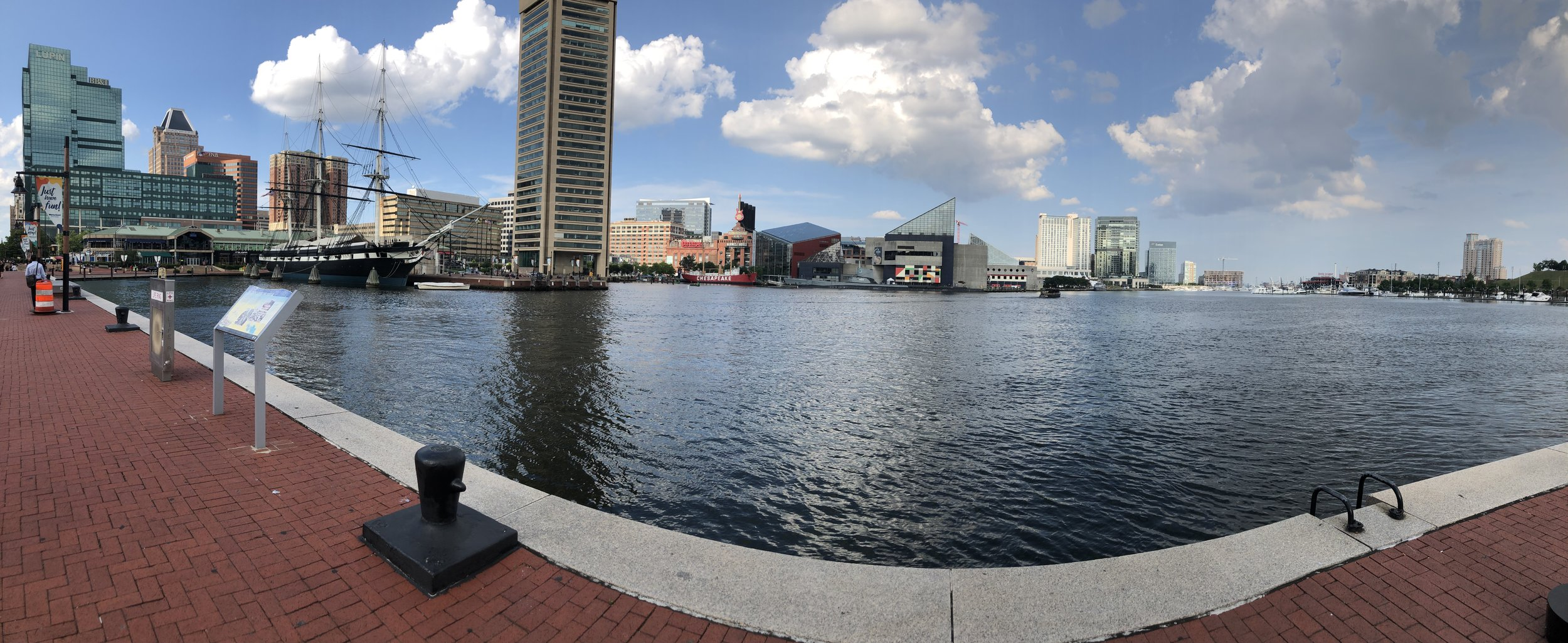 Baltimore Inner Harbor. Day 1 of the course is located at the Hampton Inn, 550 Washington Boulevard, a few blocks from the harbor.