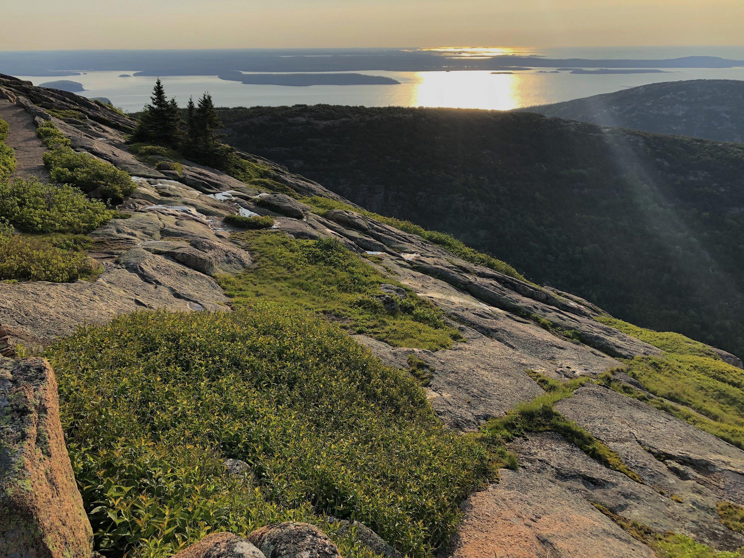 Early morning sun on Cadillac Mountain (Acadia National Park)