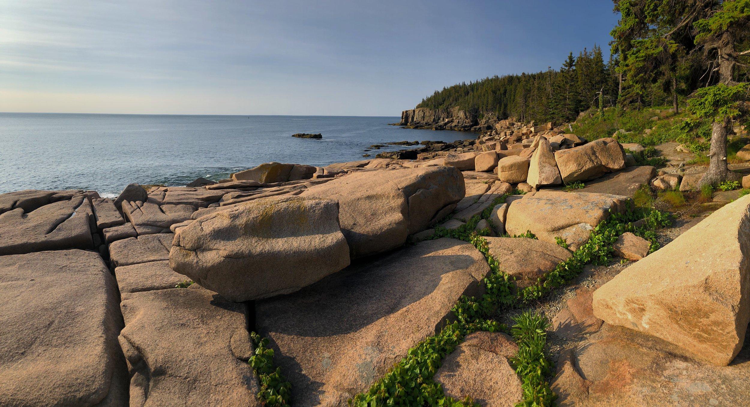 Along the coastal drive in Acadia National Park