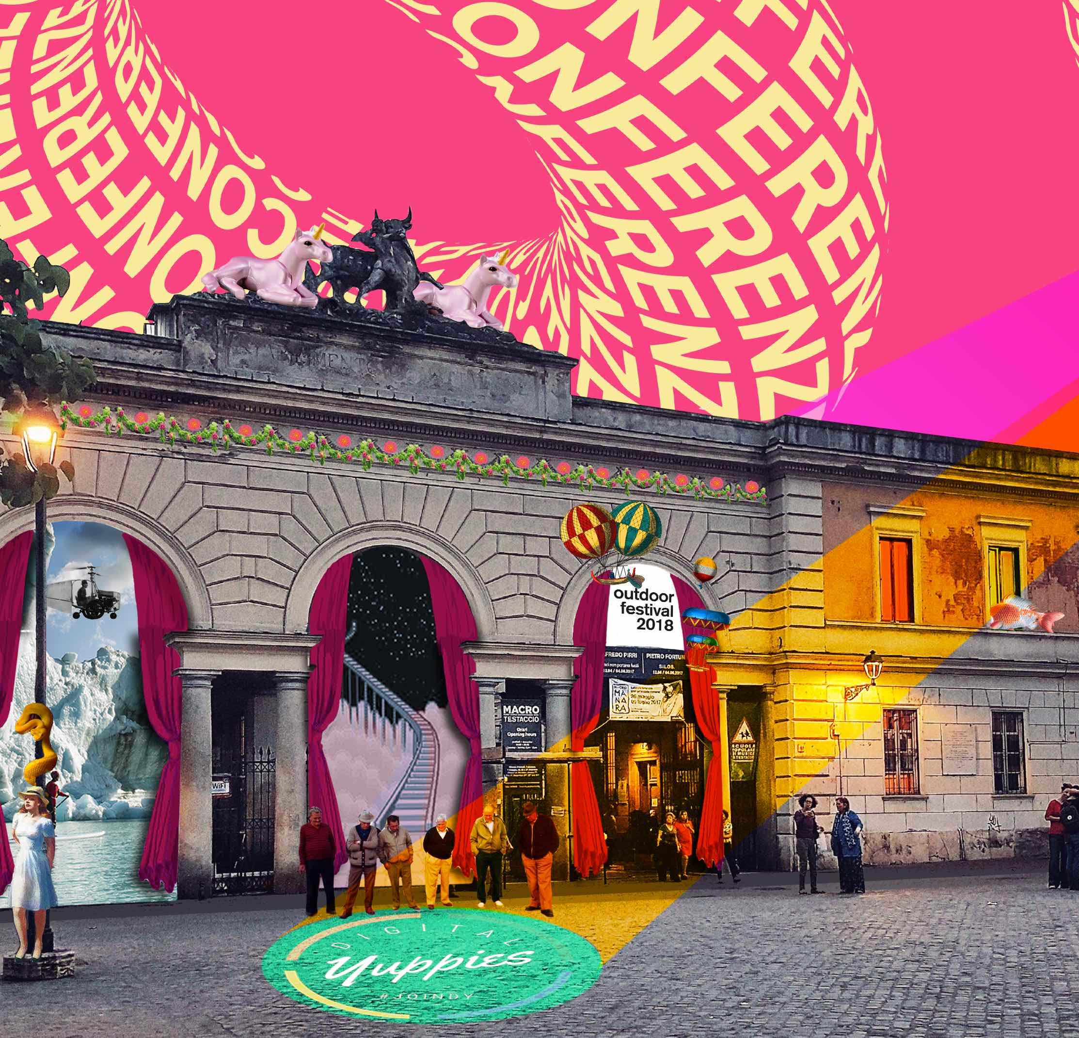 27 APRILEDigital Yuppies+ IED - Dopo Lipsia e Amsterdam,#DigitalYuppies torna a Roma il 27 Aprile alle 21.00 in collaborazione con IED Roma all'interno della programmazione di Outdoor Festival 2018.Un incontro con esperti del settore digital e new media:Marketing Digitale / Creatività / Design / Social Media / Entertainment / Music.