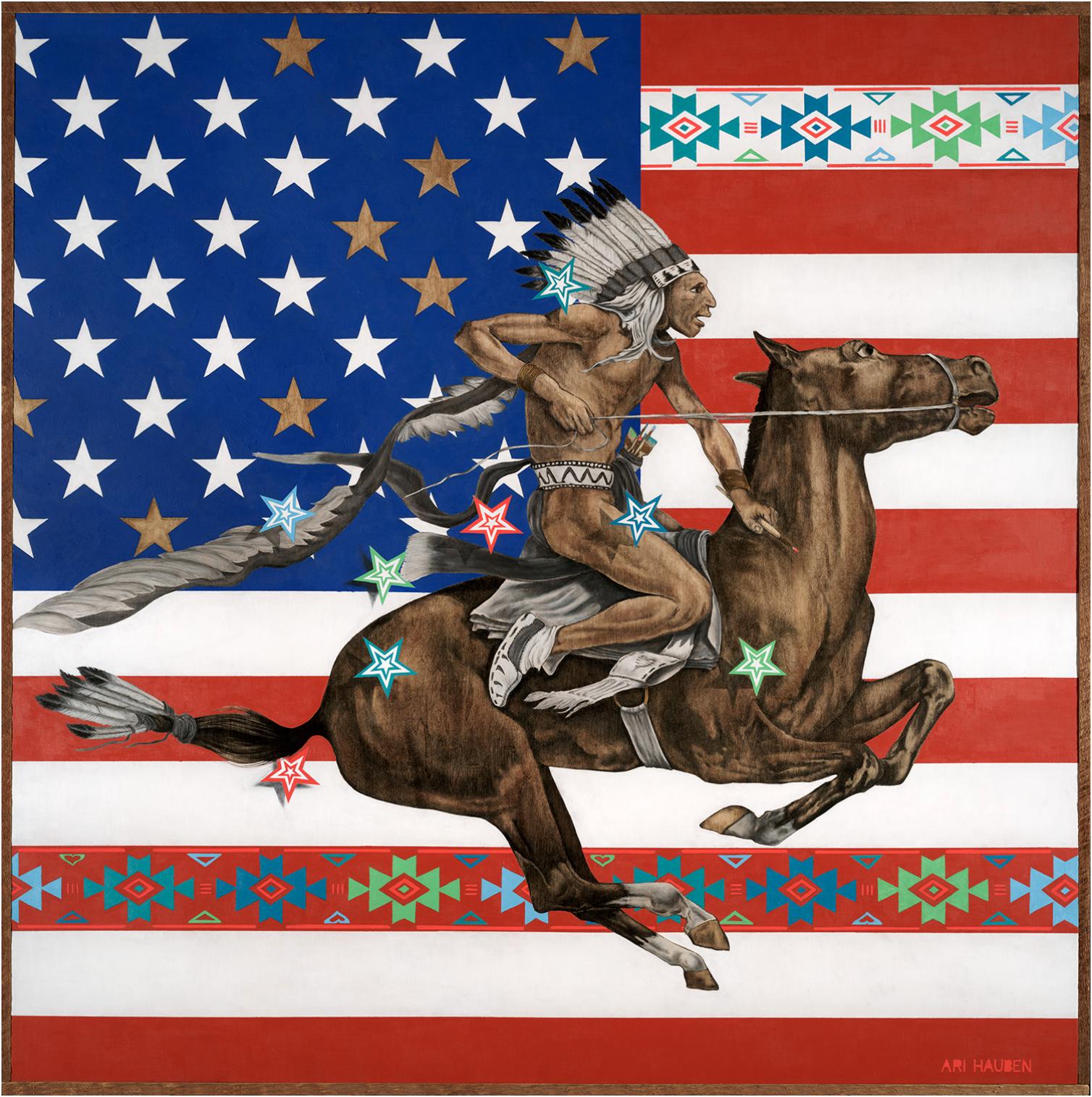 Ari Hauben , Native Color, 44 x 44, oil on wood panel